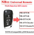Freies verschiffen (1 stück) NB11 Universal-multifunktions-12v kd fern 3 taste NB series key für KD900 URG200 remote Master