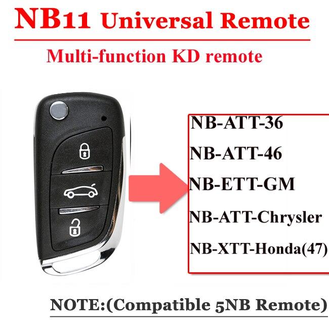 Frete grátis (1 peça) NB11 Universal Multi-funcional série NB chave remoto 3 botão para KD900 kd URG200 Mestre remoto