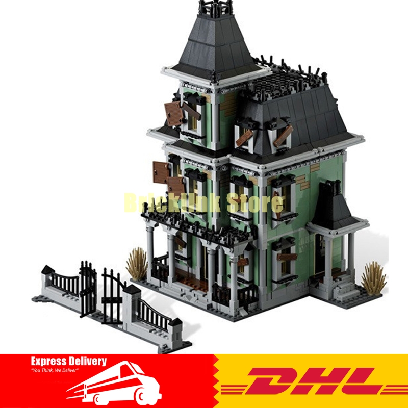 DHL LEPIN 16007 2141Pcs Monster fighter The haunted house Model set Building Kits Model Compatible With 10228 Gifts 2141pcs monster fighters haunted house vampyre castle 16007 model building blocks children gifts sets movie compatible with lego
