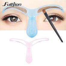 Fulljion Reusable Eyebrow Stencils Grooming Drawing Guide Eye Brow Templates