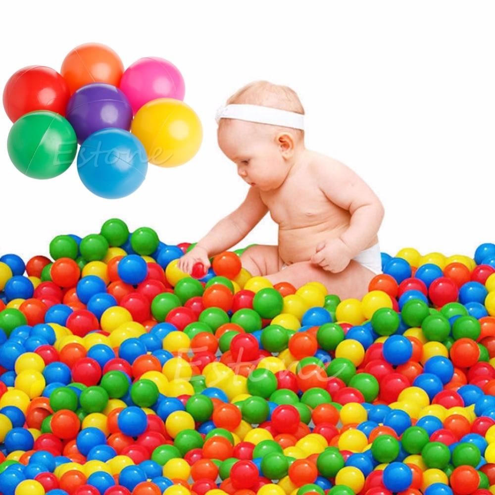 2018 New 1Set/100Pcs 7cm Ball Fun Ball Soft Plastic Ocean Ball Baby Kid Toy Swim Toy Water Pool Ocean Wave Balls Diameter 6pcs water spray swim dolphin babies toy