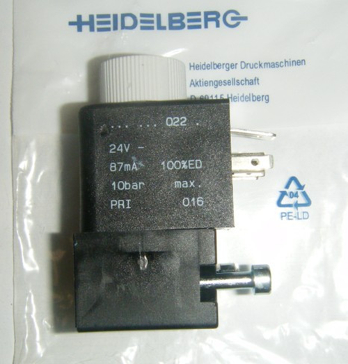 Solenoid valve 61.335.001/04 for Heidelberg SM/CD 102 offset printing press Original
