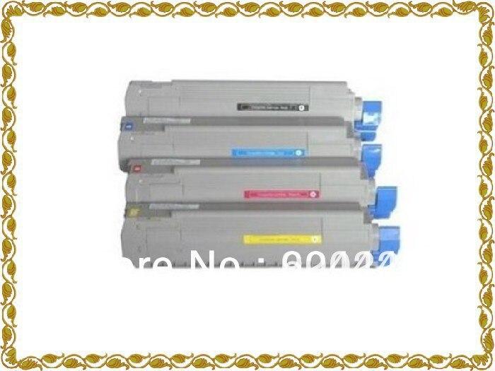 Compatible OKI C610 OKI 610 color copier toner cartridge BK 8000 page CMY 6000 pages on