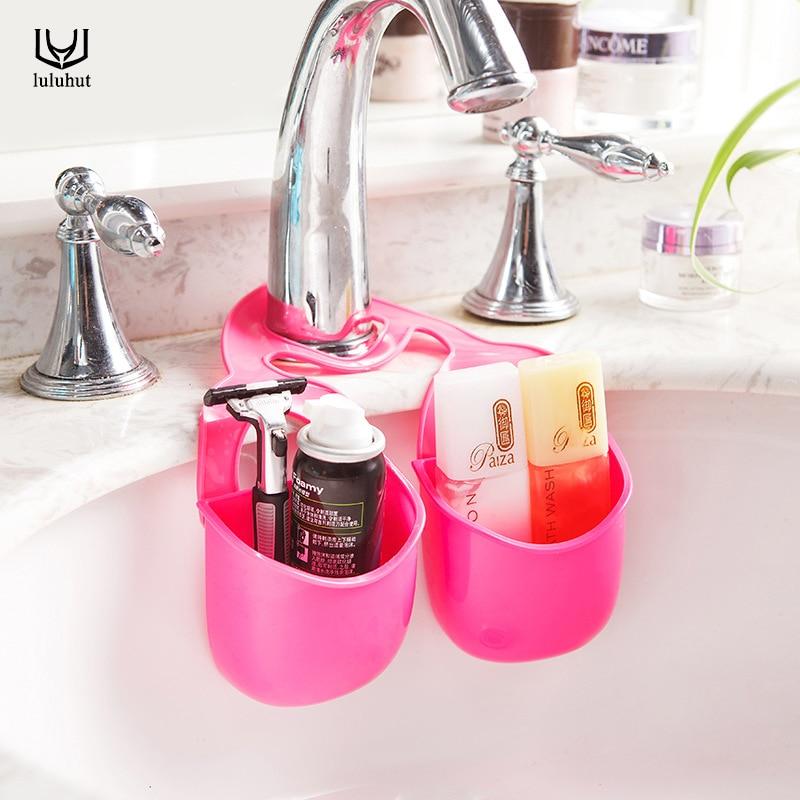 luluhut кухненски притежател висящи цедка баня съхранение сапун кърпа гъба кутия кутия аксесоар организатор двойни канали