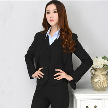 Plus size women OL work wear Pant Suits 2 buckle female formal blazer coat and pants Temperament Slim business career suits