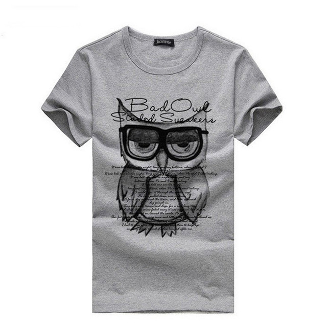HOT SALE 2017 Summer Cotton Bad Owl T-Shirts