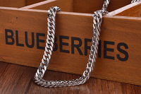 Free Shipping 2014high Quality Simple Single To Wear Flat Chain Fashion Necklace Titanium Steel Chain Necklace