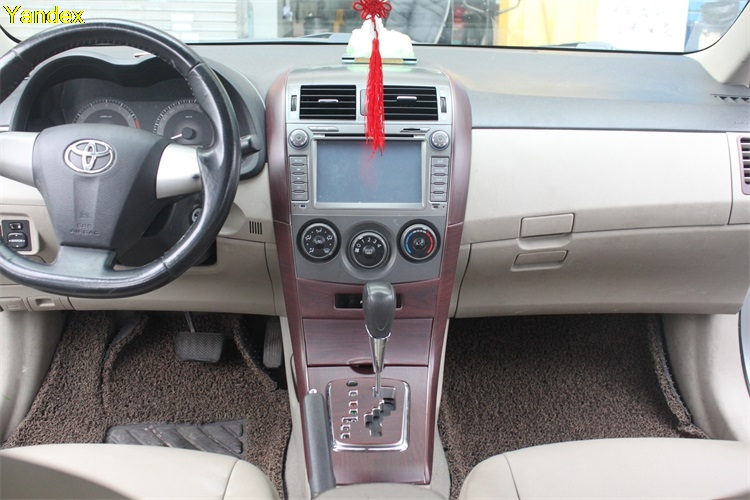 Yandex highquality mahogany cherry wood carbon fiber trim special modified car parts accessories for Toyota corolla interior accessories