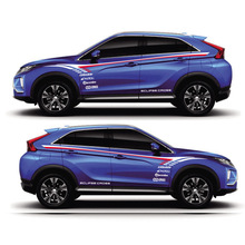 World Datong car sticker For  Mitsubishi ECLIPSE CROSS Pajero Outlander Zinger Eclipse Both side body sport auto stickers