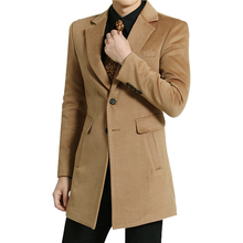 Hot New Spring Autumn Winter British Turn Down Collar Man Casual Jacket Long Fashion Slim Solid Men Trench Coat Plus Size S-6XL