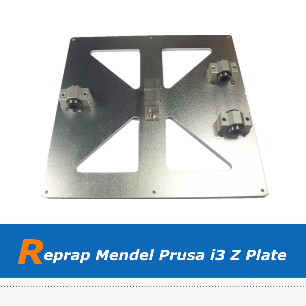 3D Printer Parts Reprap Mendel Prusa i3 Aluminum Alloy Hot Bed Plate reprap prusa mendel diy 3d printer linear bearings silver 10 pcs