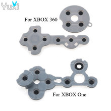 YuXi 50 sets Conductive adhesive Game handle Assembly Rubber D Pad for Xbox One 360 Controller