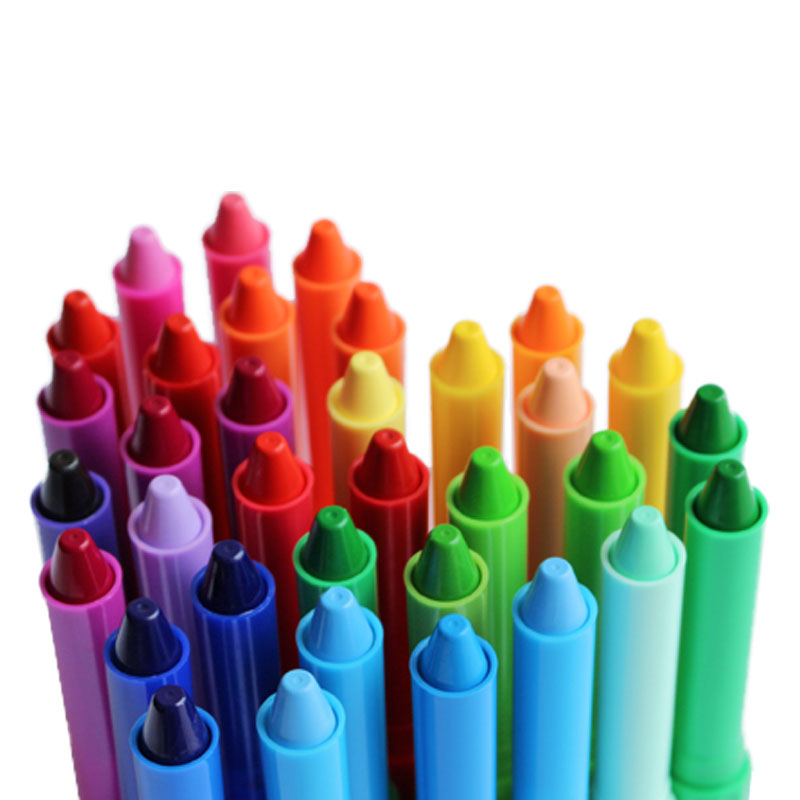 children's rotary plastic crayons non-toxic washing colorful oil painting stick graffiti pen watercolor painting art brushes