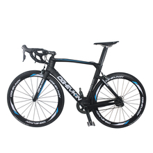700C Latest Carbon Fiber Complete Bicycle 22 Speed Road Bike UD Matte Powerway R36 Hubs 48/50/52/54CM with Shimano 6800 Groupset