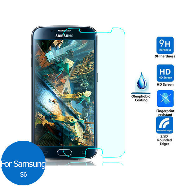 2PCS For <font><b>Samsung</b></font> GALAXY <font><b>S6</b></font> Tempered Glass Screen Protector 2.5 9h Safety Protective Film on S 6 <font><b>SM</b></font> G920 <font><b>G920F</b></font> G920K G 920F 920K image