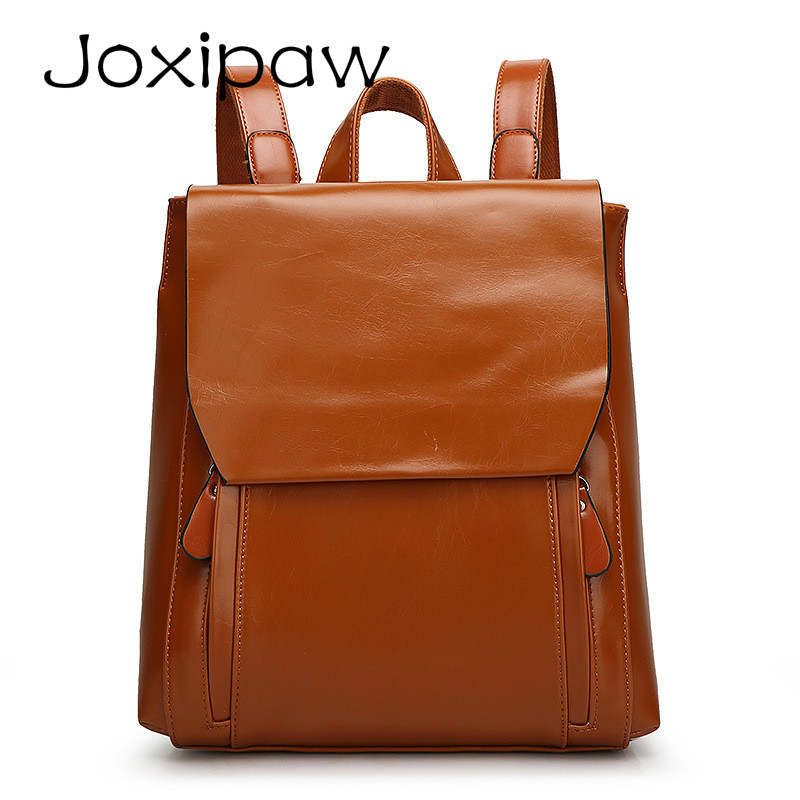 2018 Fashion Women Backpack High Quality PU Leather Backpack for Teenagers Girls School bags Female Shoulder Bag Bagpack mochila