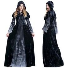 Хэллоуин викторианский костюм платье косплей костюмы страшный вампир ведьма одежда женский средневековый маскарадный костюм призрак модное платье макси