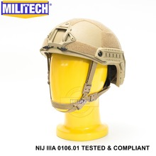 ISO Certified MILITECH DE NIJ Level IIIA 3A FAST OCC Liner High XP Cut Bulletproof Aramid Ballistic Helmet With 5 Years Warranty