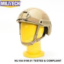 Iso認定militechデnijレベルiiia 3A高速occライナー高xpカット防弾アラミド弾道ヘルメット5年保証