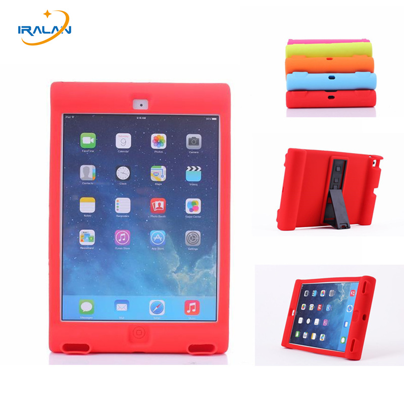 2017 New Shockproof Loudspeaking Kids Protection Silicon Case For Apple Ipad 2 3 4 9 7