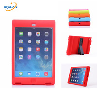 2017 New Shockproof Loudspeaking Kids Protection Silicon Case For Apple Ipad 2 3 4 9.7 inch Tablet Stander Back Cover+Film+Pen