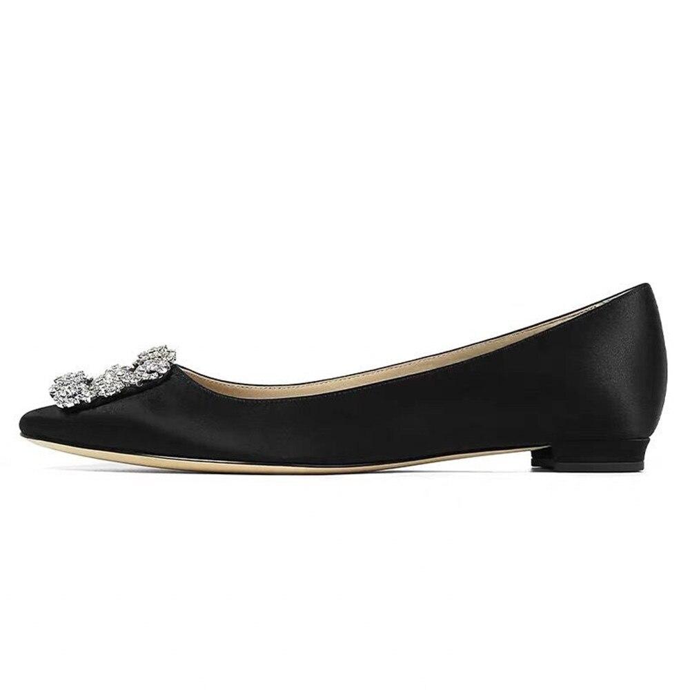 Scarpe Basse 100% di Seta delle donne del Cuoio Genuino A Punta Toe Ballet Flats Scarpe di Comfort di Moda Delle Signore delle Donne di Vendita Calda scarpe-in Ballerine da donna da Scarpe su  Gruppo 1
