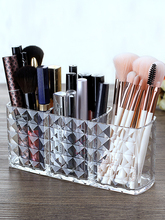 Makeup brush storage bucket Transparent acrylic makeup holder tube Desktop eyebrow finishing box