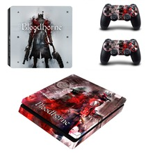 Bloodborne Design Vinyl PS4 Slim Sticker for Sony Playstation 4 Slim Console+2pcs Skin Decal Controller Stickers