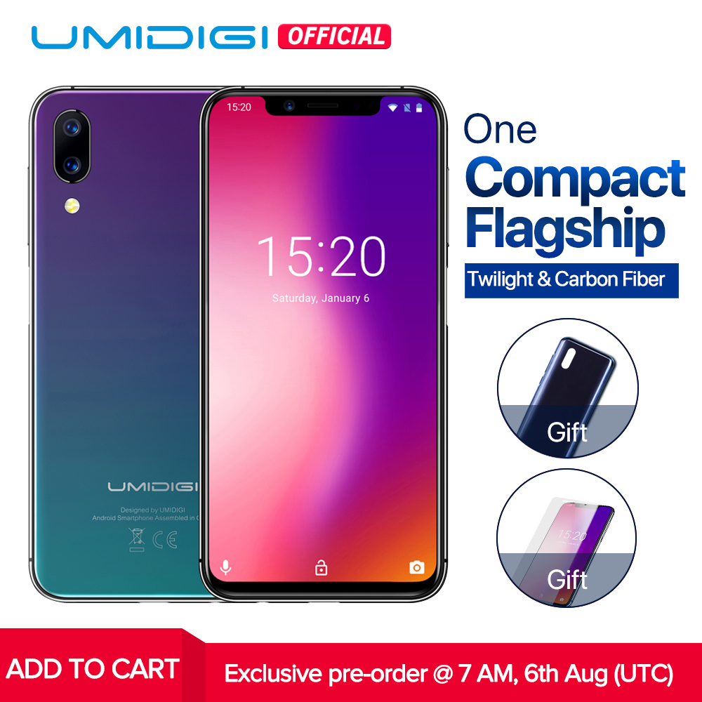 """Pre-sale UMIDIGI ONE Global version 5.9"""" fullsurface smartphone P23 Octa Core 4GB 32GB 12MP+5MP Dual 4G mobile phone Android 8.1"""