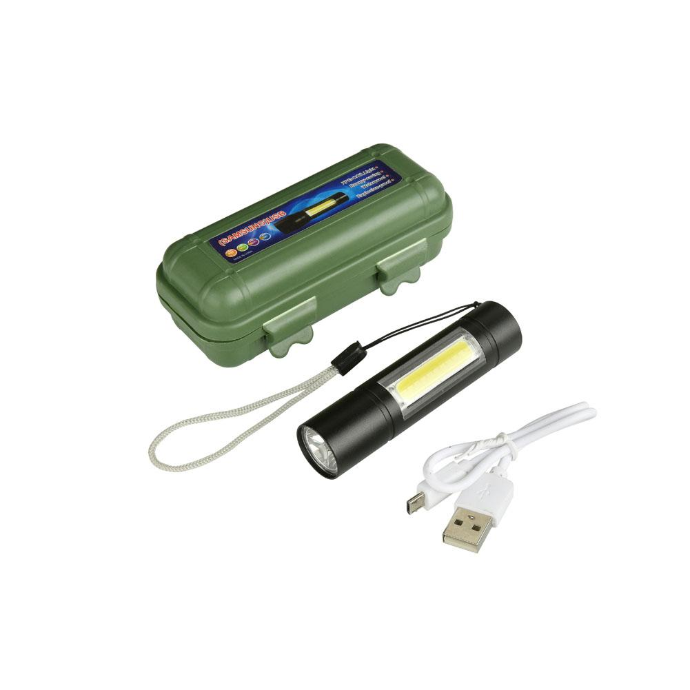 LumiParty Portable XPE+COB LED Flashlight USB Charging Inspection Lamp Strong Light Torch with Build-in Battery Outdoor Use lumiparty led hand cranking solar desk lamp 8 in 1 portable usb charging camping light with fm radio flashlight warning light