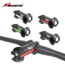 Ullicyc Alloy+3K carbon Mountain/Road bike Stem 6/17 Degree stem Fork Clamp Diameter 28.6mm handlebar diameter 31.8mm*60-120mm