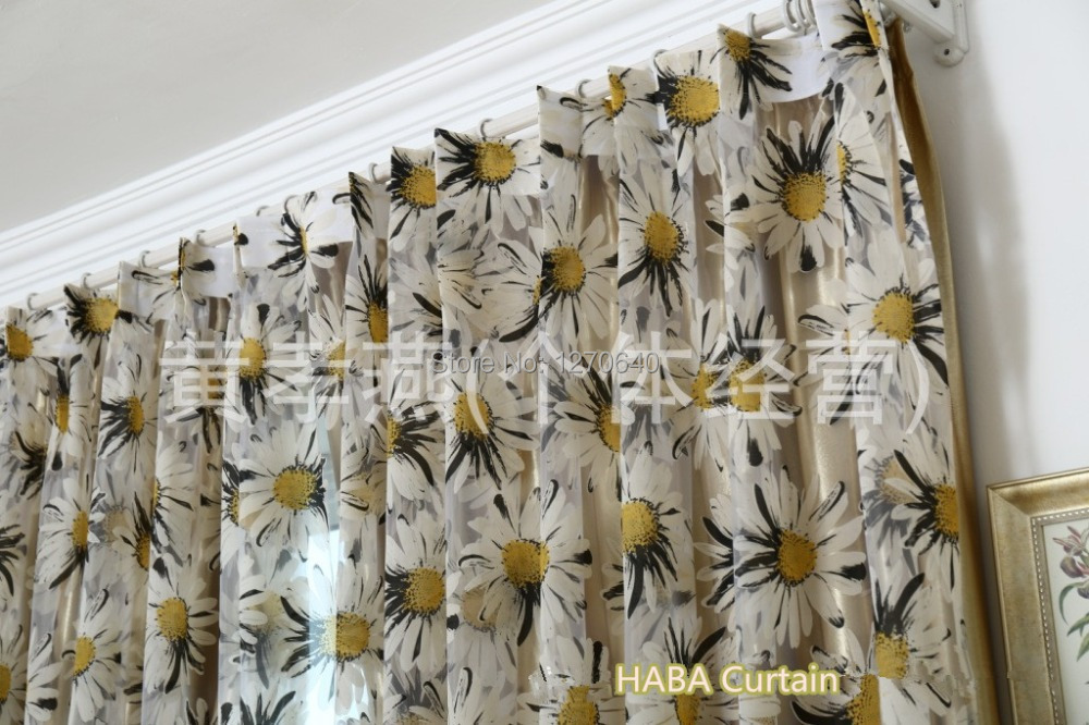Hot Sell Tulle Fabric Window Curtain Ideas For Home Contemporary Kitchen Curtain  Hanging Pleated Sheer Drapes For Patio Doors In Curtains From Home U0026 Garden  ...