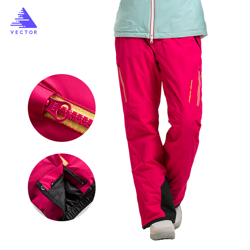 VECTOR marque pantalon de Ski sur glace professionnel femmes imperméable pantalon de neige hiver chaud Snowboard pantalon pantalon de Ski en plein air 50017