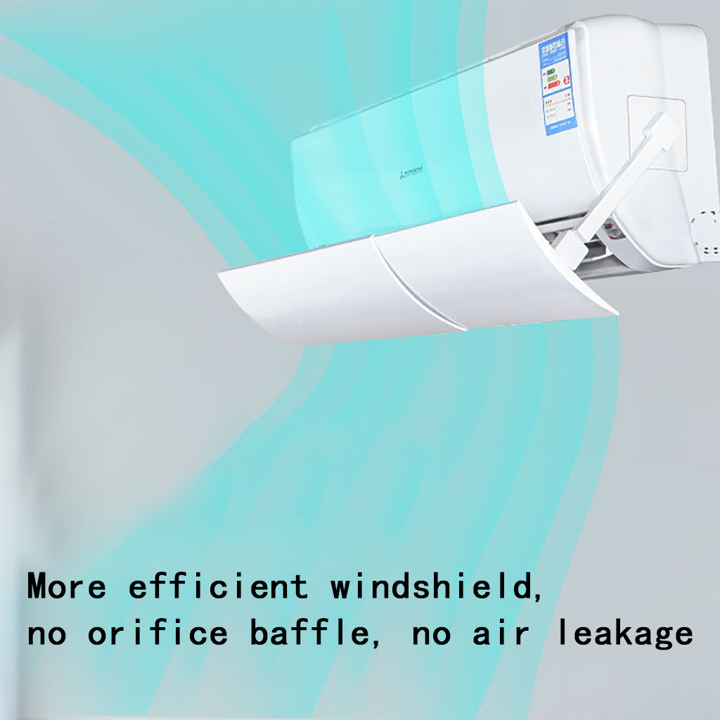 Steady Direct Blowing Retractable Air Conditioner Shield Cold Air Conditioner Deflector Deflector Air Condition Deflector Baffle#