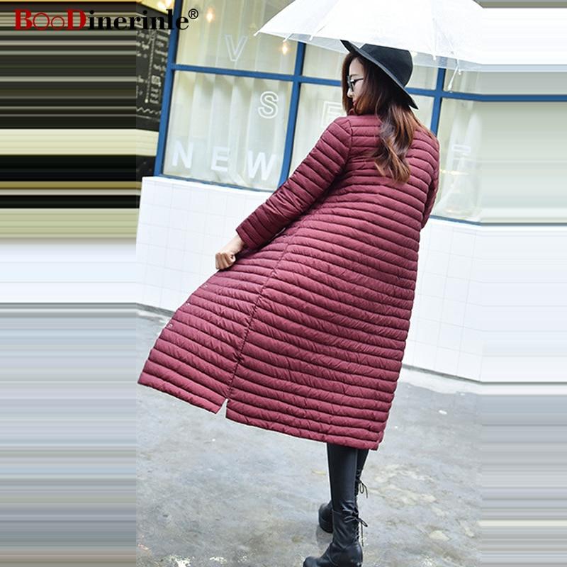 Femmes Duvet Parka Chaud Longue Lady Veste Mince D'hiver Col navy Blue Outwaer Nouveau 2018 gray Léger Manteau Black De Pied 90 wine Yr076 Red Canard Ultra Portable Blanc ACqR5