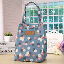 Fashion Printing Flower Dog Lunch Bags for Women Men Thermal Food Picnic insulation Bag Cooler Big Capacity Storage Tote Bags(China)