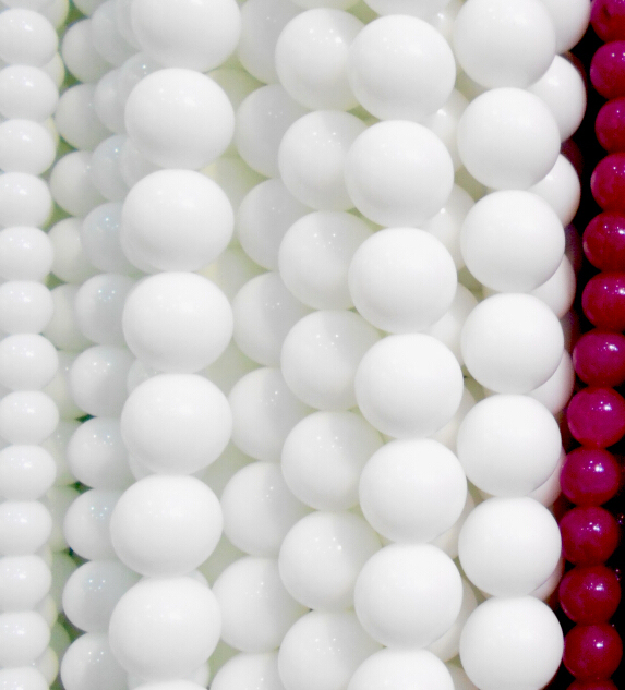 """Free Shipping Natural Stone White Coral Round Beads 15"""" Strand 4 6 8 10 12MM Pic"""