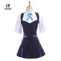 ROLECOS Brand Japanese Anime Kiznaiver Cosplay Takashiro Chidori Cosplay Costumes School Girl Uniform Women Holloween Costumes