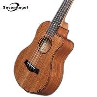 SevenAngel 23/26 inch Tenor Mahogany Ukulele Missing Angle Ukelele Mini Hawaiian Guitar Electric Ukulele with Pickup EQ