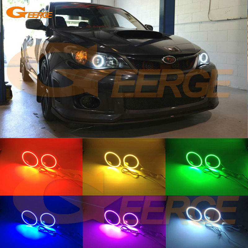 For Subaru Impreza WRX STI 2008 2009 2010 2011 2012 2013 2014 Excellent Multi-Color Ultra bright RGB LED angel eyes kit for lifan 620 solano 2008 2009 2010 2012 2013 2014 excellent angel eyes multi color ultra bright rgb led angel eyes kit
