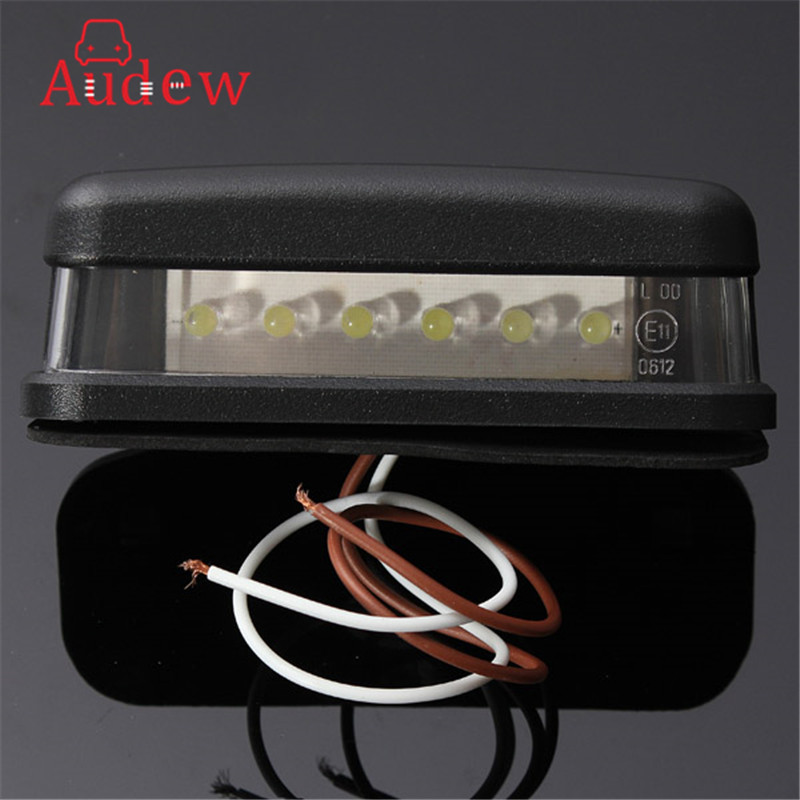 10-30В яркий 6ledы номерного знака Лампа накаливания фонарь освещения номерного знака для мотоцикла, лодки, самолета Автомобильный прицеп АВТОФУРГОН грузовик