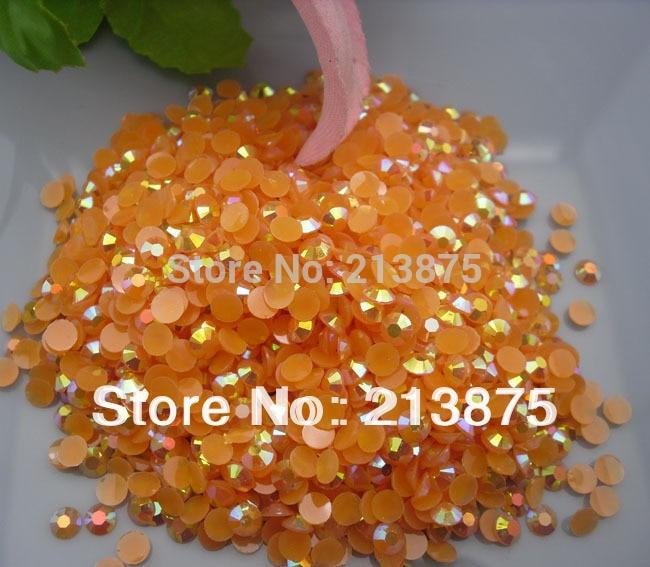 Commercio all'ingrosso grande quantità SS30 6mm 10000 pz Arancione rosso Magico colore AB strass in resina gelatina bastone Mobile trapano 0616 #