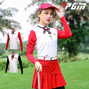 PGM autumn winter golf apparel ladies long sleeved T-shirt skirt Golf Costume Institute Wind Suit