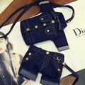 Canvas Teenage School Style Shoulder Bag Jean Cloth Messenger Jacket Shape Purse Pants Cross Body Mini Cell Phone Holder A011