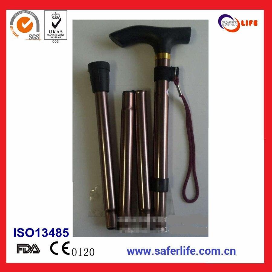 promotion hot selling aluminium adjustable folding stool walking stick crutches