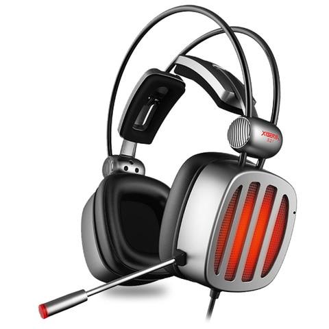 Fones de Ouvido Estéreo com Microfone Fone de Ouvido Luz para Computador Gaming Headset Surround Sound Led Gamer Jogo Usb 7.1