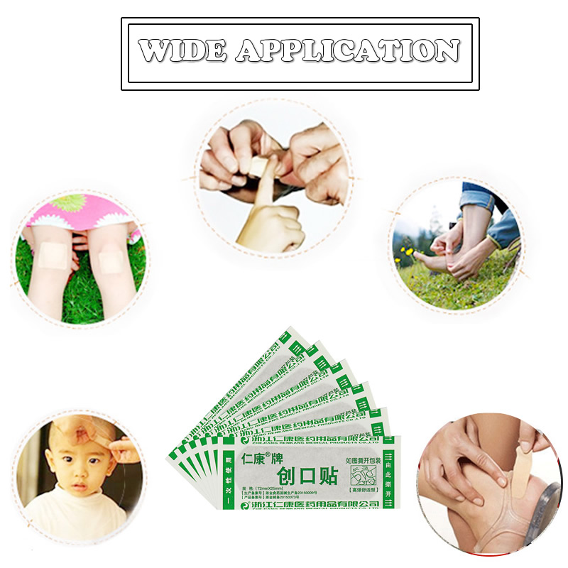 Image 5 - 20/50/100Pcs Elastic Wound Adhesive Plaster Breathable Skin Medical Band Aid First Aid Home Travel Outdoor Camp Emergency Kits-in Emergency Kits from Security & Protection