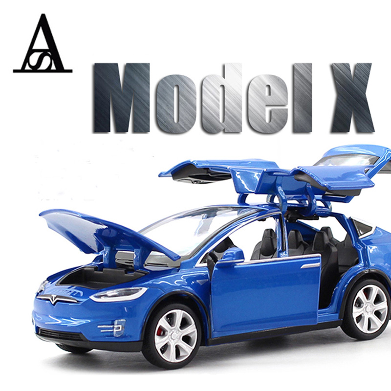 купить 1:32 Tesla MODEL X Alloy Car Model Diecasts & Toy Vehicles Toy Cars Free Shipping Kid Toys For Children Gifts Boy Toy delorean по цене 2361.48 рублей