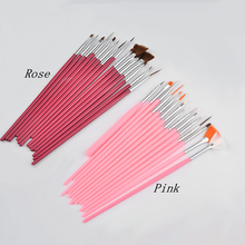15 pcs Professional Nail Art Brush Set UV Gel
