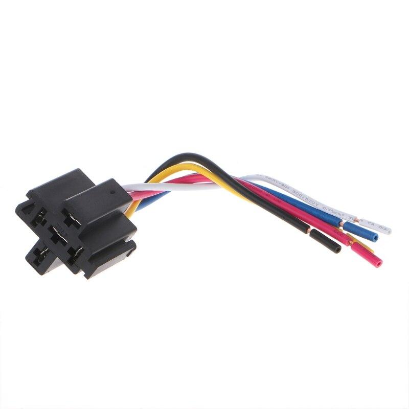 Pre Wired 5 Pin Relay Mounting Base Socket Holder 12v 24v